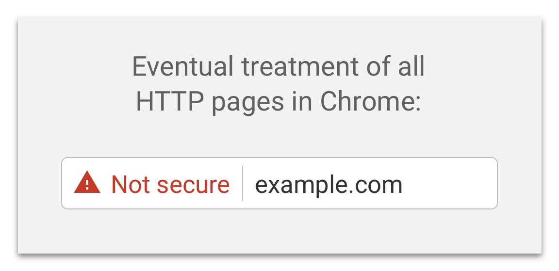 How non-secure pages will look in google chrome