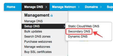 Setup Secondary DNS at CloudFloorDNS