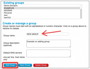 Adding groups for multi-user DNS permissions